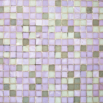 Ceramic Tile Photograph - Purple Tiles by Tom Gowanlock