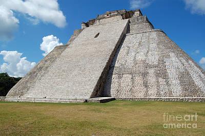 Photograph - Pyramid Of The Magician At Uxmal Mexico by Shawn O'Brien