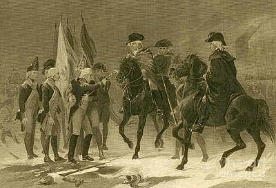 Rall Surrenders, Battle Of Trenton, 1776 Art Print by Photo Researchers