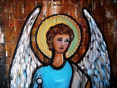 Painting - Raphael Archangel by Pristine Cartera Turkus
