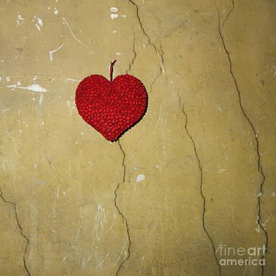 Red Heart Art Print by Bernard Jaubert