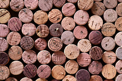 Photograph - Red Wine Corks by Frank Tschakert
