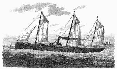 Refrigerated Ship, 1876 Art Print by Granger