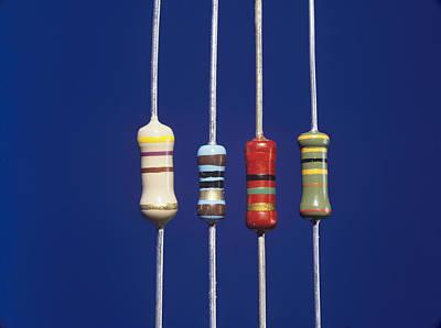 Resistor Photograph - Resistors by Andrew Lambert Photography