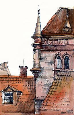 Watercolor Painting - Riga by Natalia Eremeyeva Duarte