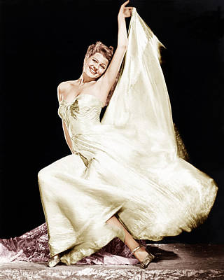 Gold Lame Photograph - Rita Hayworth, 1940s by Everett