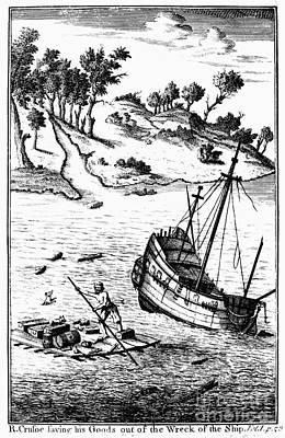 Robinson Crusoe Art Print by Granger