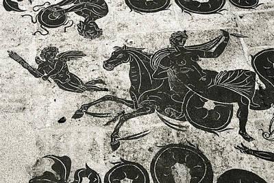 Roman Mosaic, Ostia Antica Art Print by Sheila Terry