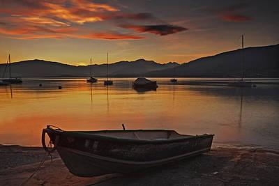 Lago Maggiore Photograph - romantic evening at the Lake Maggiore by Joana Kruse
