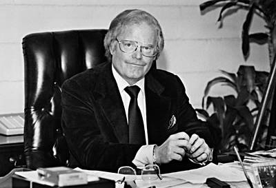 1980s Portraits Photograph - Roone Arledge, President Of Abc News & by Everett