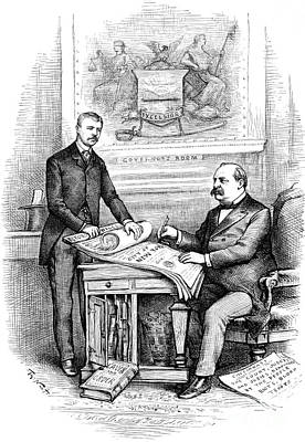 Roosevelt Cartoon, 1884 Art Print by Granger