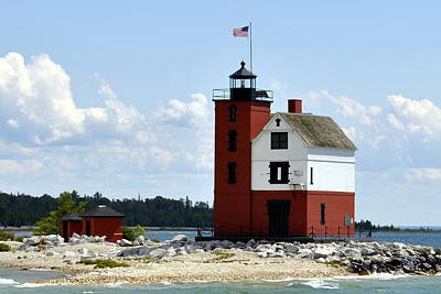 Photograph - Round Island Lighthouse by Marysue Ryan