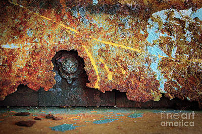 Vandalize Photograph - Rust Background by Carlos Caetano