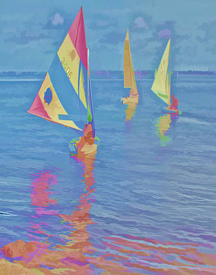 Sailing The Blue Art Print