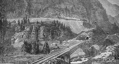 Saint Gotthard Tunnel Art Print by Granger