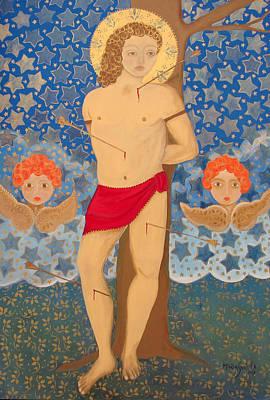 Painting - Saint Sebastian by Maria Matheus Maria Santeira