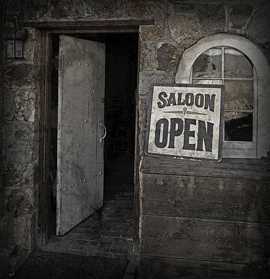 Photograph - Saloon Open by John Stephens