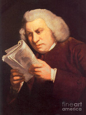 Samuel Johnson, English Author Print by Photo Researchers