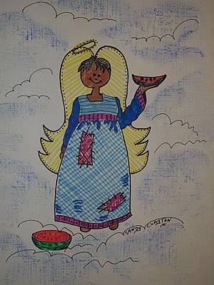 Watermelon Mixed Media - Sandy's Angel by Sandra Clayton