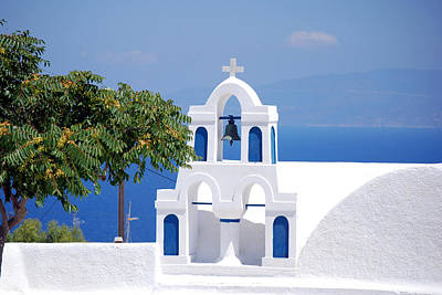 Photograph - Santorini Church by Harvey Barrison