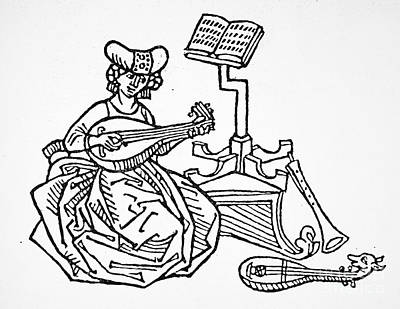 Lutenist Photograph - Sappho (fl. C600 B.c.) by Granger