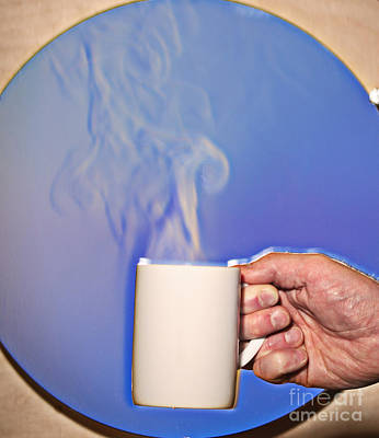 Schlieren Image Of Hot Coffee Cup Print by Ted Kinsman