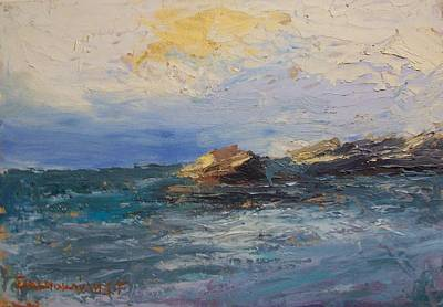 Painting - Sea Rocks by George Siaba
