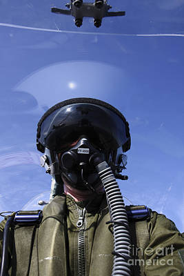 Obscured Face Photograph - Self-portrait Of A Pilot Flying by Daniel Karlsson