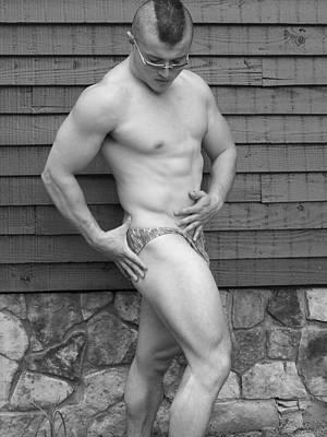 Bodybuilder Photograph - Sergio King  Male Muscle Art by Jake Hartz