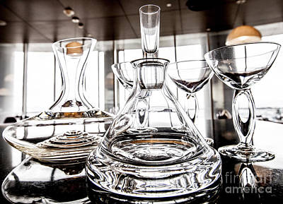 Shadow Of Luxury Glass Art Print by Chavalit Kamolthamanon