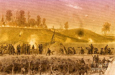 Photograph - Siege Of Vicksburg, 1863 by Photo Researchers