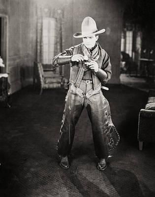 Photograph - Silent Film Still: Cowboys by Granger