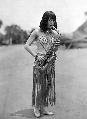 Saxophonist Photograph - Silent Film Still: Music by Granger