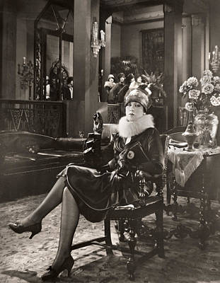 The Sewing Room Photograph - Silent Film Still: Smoking by Granger