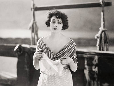 Photograph - Silent Film Still: Woman by Granger
