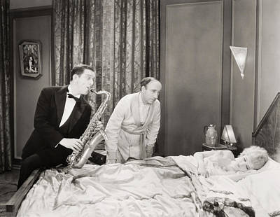Saxophone Photograph - Silent Still: Musicians by Granger