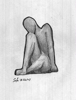 Sketch Art Print by Safa Al-Rubaye