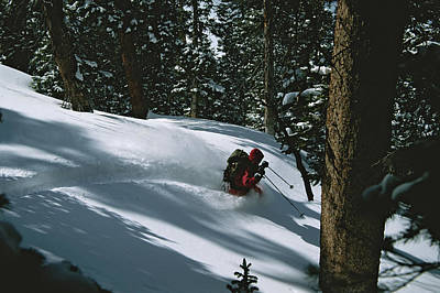 Sawatch Range Photograph - Skier Phil Atkinson Skiing Backcountry by Tim Laman