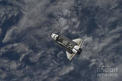 Space Shuttle Atlantis Backdropped Art Print by Stocktrek Images
