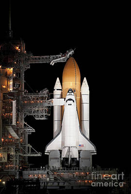 Space Shuttle Atlantis Sits Ready Art Print by Stocktrek Images