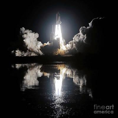 Space Shuttle Endeavour Liftoff Art Print