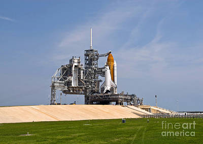Space Shuttle Endeavour On The Launch Art Print