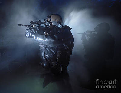 Photograph - Special Operation Forces Combat Divers by Tom Weber