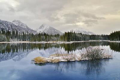 Spillway Lake And The Opal Range, Peter Art Print by Darwin Wiggett