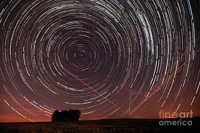Star Trail In Alentejo Art Print by Andre Goncalves