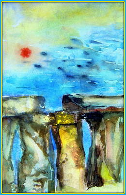 Cycles Painting - Stonehenge by Mindy Newman