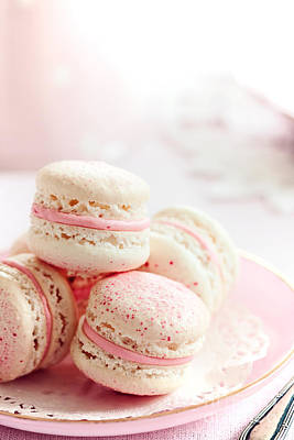 Photograph - Strawberry Macarons by Ruth Black