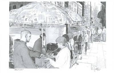 Street Eats Art Print by Larry Oldham