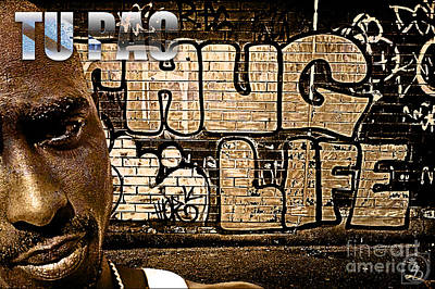Rap Digital Art - Street Phenomenon 2pac by The DigArtisT