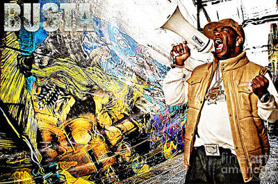 D77 Digital Art - Street Phenomenon Busta by The DigArtisT